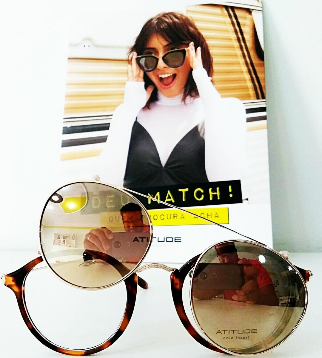 46496c2f1 Óculos Atitude At4125 (óculos De Sol E Grau) - R$ 312,50 em Mercado ...