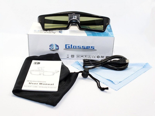 óculos ativo dlp link-3d para projetores