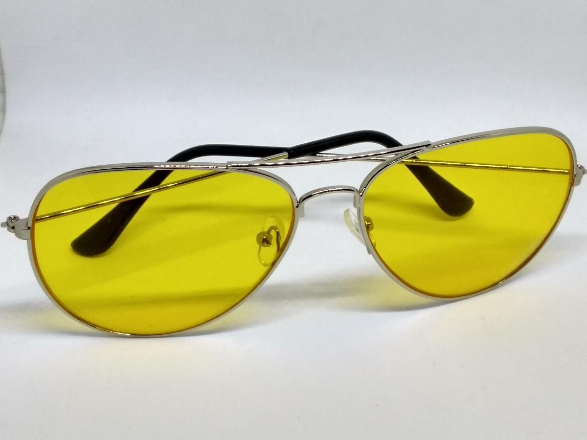 73c3ba378807f Óculos Aviador Amarelo Lente Colorida - R  39,00 em Mercado Livre