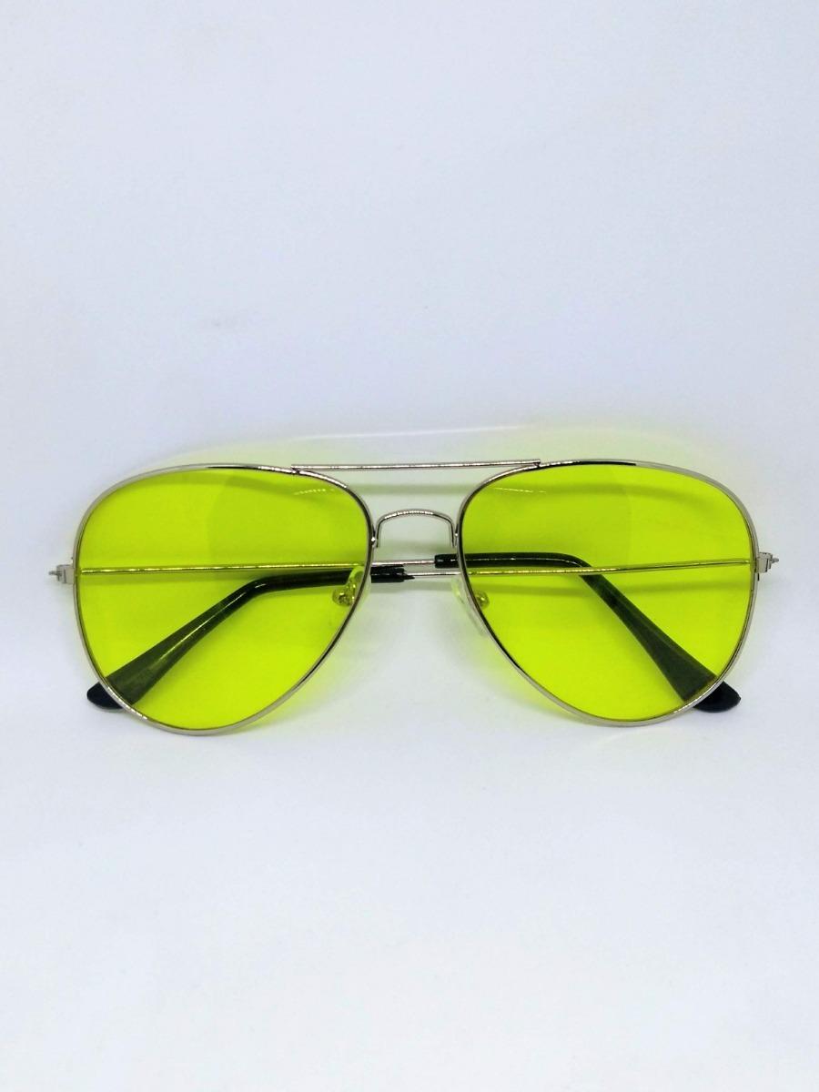 940e72f72d596 óculos aviador amarelo lente colorida. Carregando zoom.