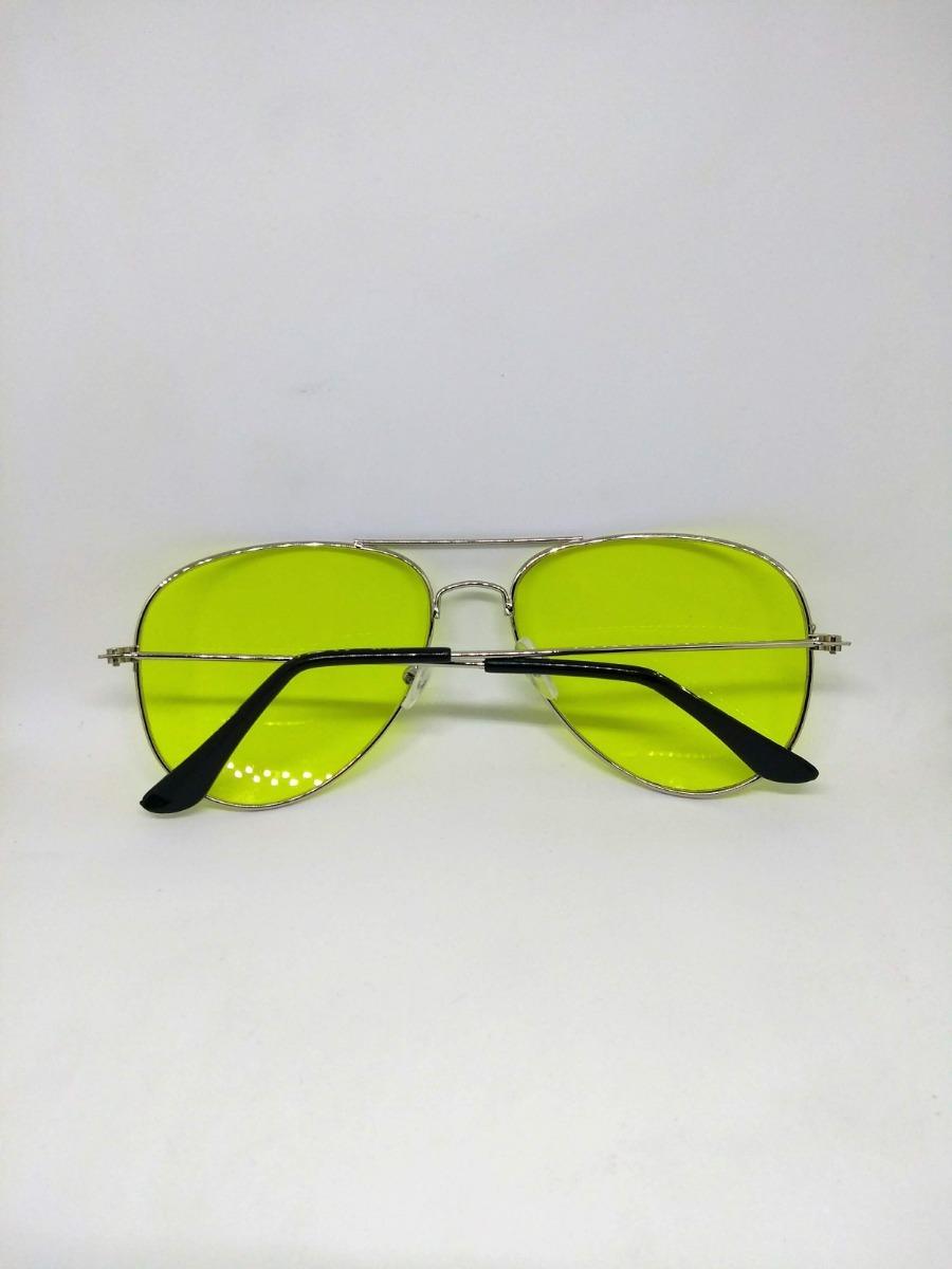 5c3ad99e3 Óculos Aviador Amarelo Lente Colorida - R$ 29,99 em Mercado Livre