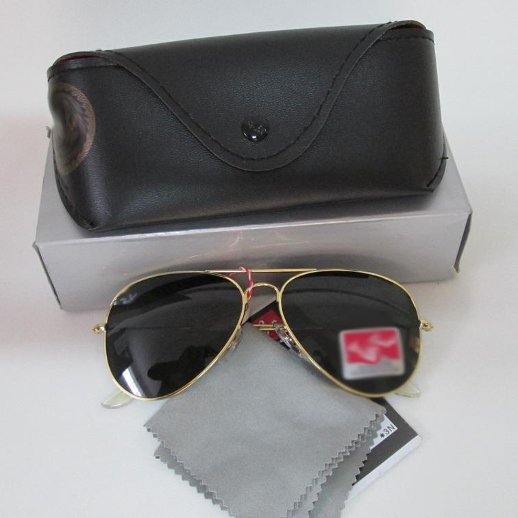2486c2ede9edd Óculos Aviador Aviator Dourado Verde - R  50,00 em Mercado Livre