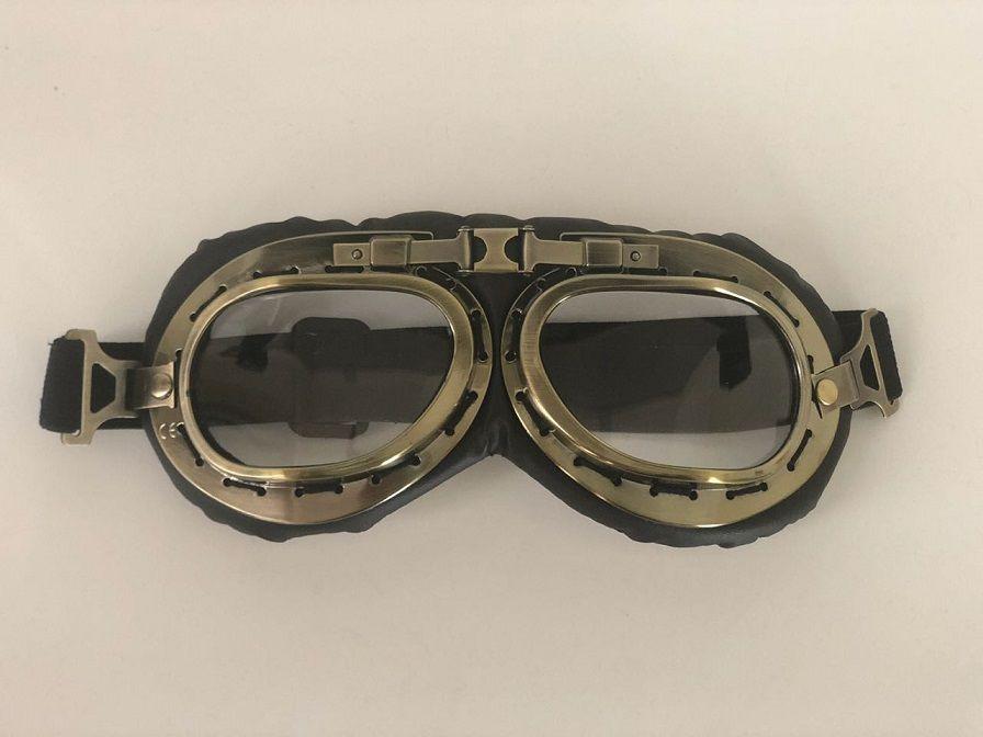 9d4659cdc Óculos Aviador Bronze Retro Hd Moto Custom Capacete - R$ 79,00 em Mercado  Livre
