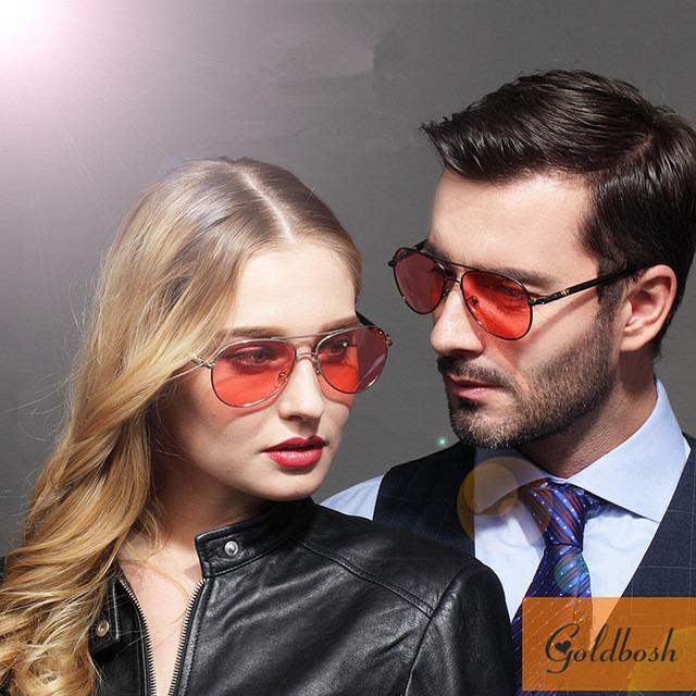4c5d0aa922753 Óculos Aviador Com Lentes Vermelha Suave - R  119
