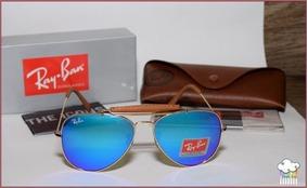 2b28249fa Oculos Modelo Ray Ban Caçador ,lentes Azuis Espelhadas - Óculos De ...