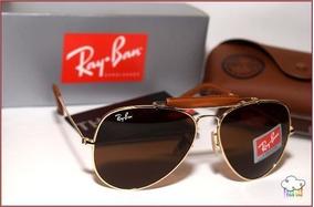 83de009f2 Oculos Rayban Aviador Couro - Óculos no Mercado Livre Brasil