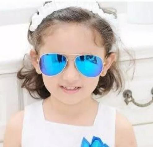 832dca1c91364 Óculos Aviador Espelhado Azul Infantil Menina Menino Fashion - R  34 ...