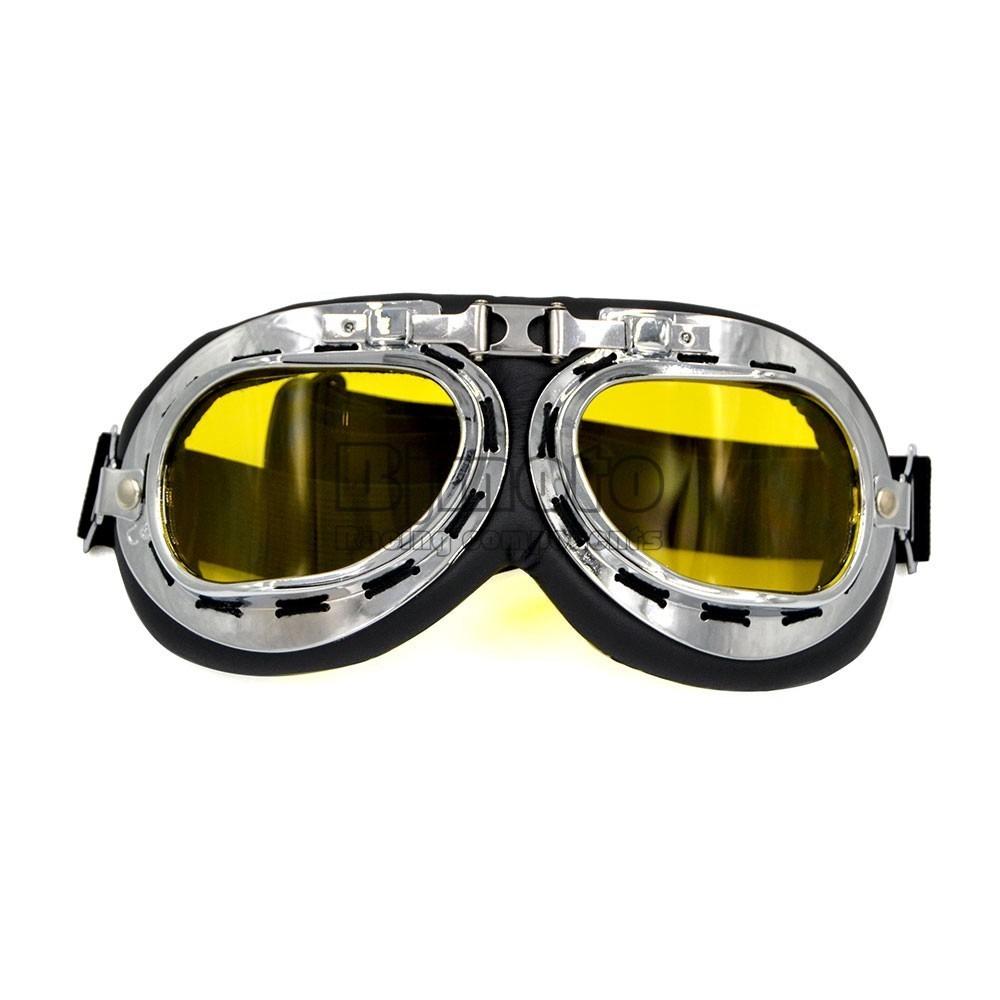 36e1174d7e717 óculos aviador lente amarela estilo vintage retro moto old. Carregando zoom.