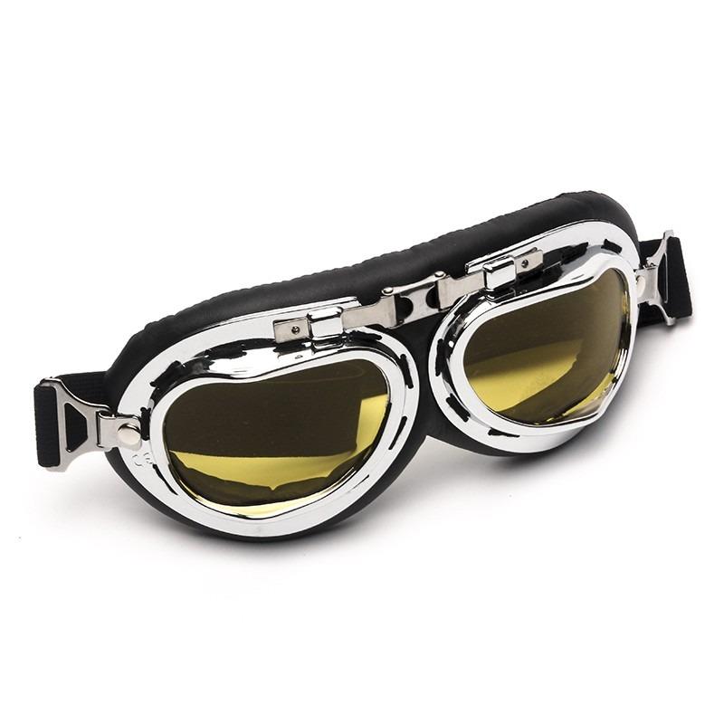 9f0e797967ba4 óculos aviador lente amarela estilo vintage retro moto old. Carregando zoom.