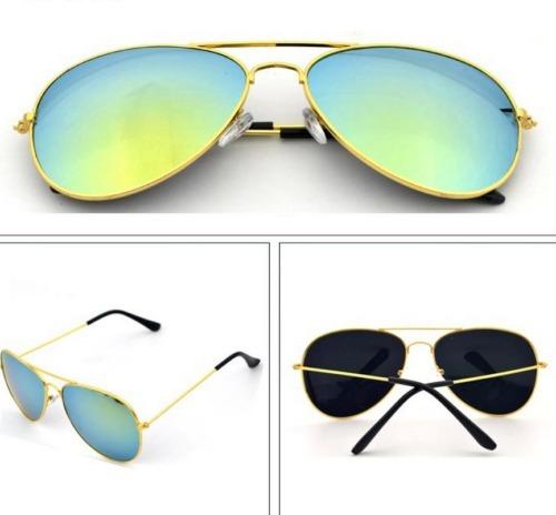 f28df199f Óculos Aviador Lente Colorida Degrade Azul Com Amarelo - R$ 23,00 em ...