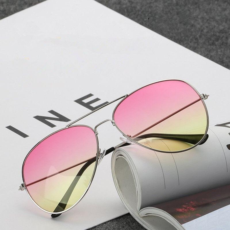 Óculos Aviador Lente Colorida Degrade Rosa Amarelo - R  25,00 em ... 03a600cb53