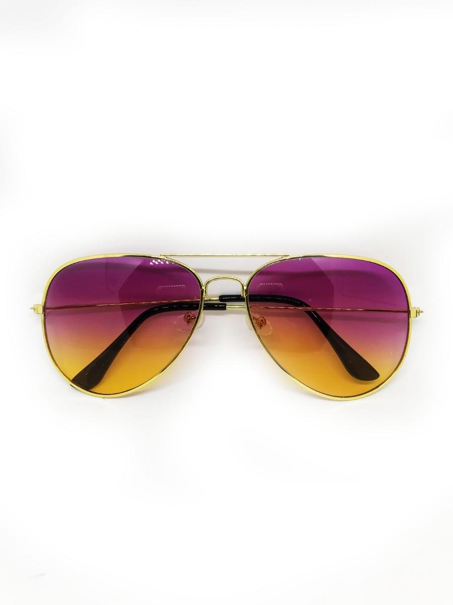 Óculos Aviador Lente Colorida Degrade Roxo Amarelo - R  49,99 em ... 254f337c1e