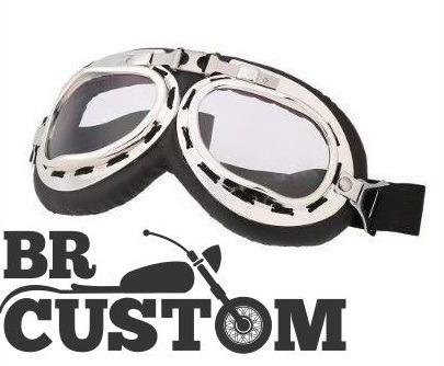 8f7006151 Óculos Aviador Lente Transparente Estilo Vintage Retro Moto - R$ 55 ...