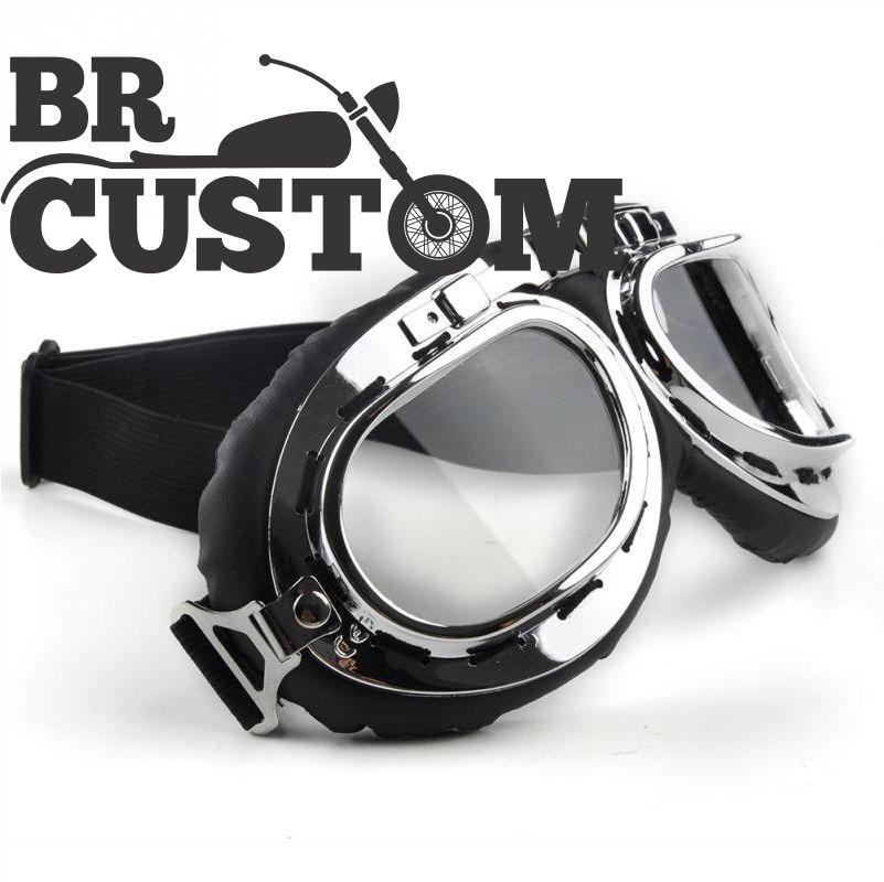óculos aviador lente transparente estilo vintage retro moto. Carregando  zoom. 0f35d96bab
