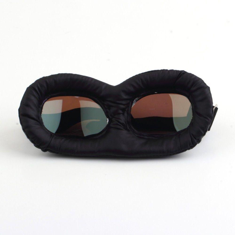 óculos aviador marron retro lente transparente moto custom. Carregando zoom. b0c39c19b8