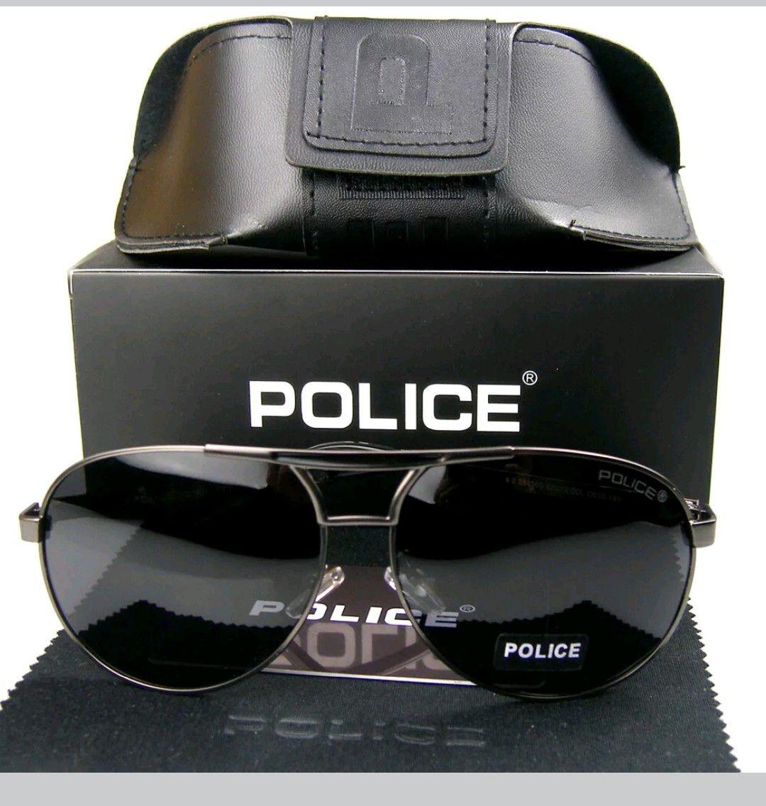 8742c824e óculos aviador masculino police polarizado teste 100% uvauvb. Carregando  zoom.