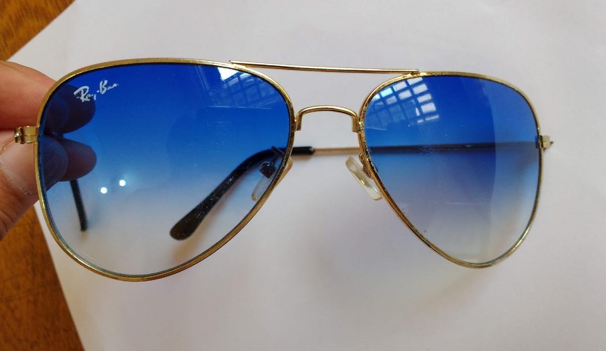1caf507f148da Óculos Aviador Médio Lente Azul Degradê Usado - R  45,00 em Mercado ...