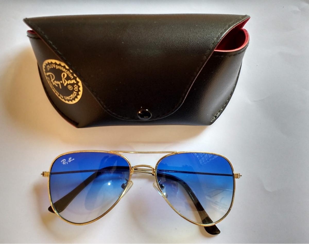 b67b5ccd6 Óculos Aviador Médio Lente Azul Degradê Usado - R$ 45,00 em Mercado ...