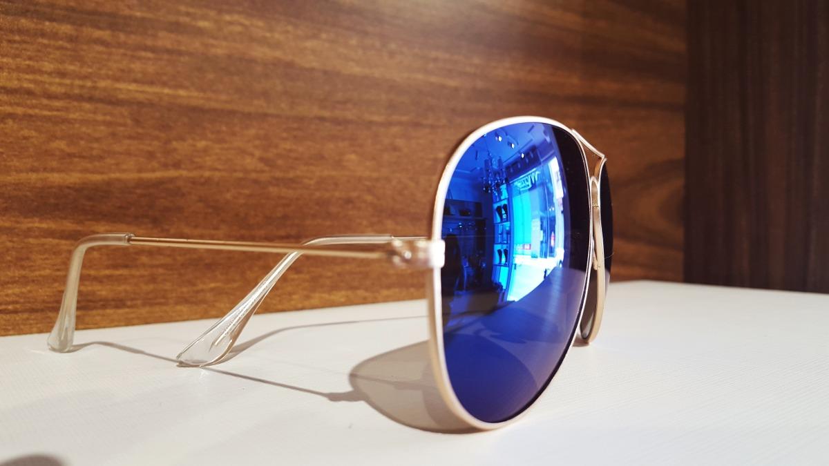 óculos aviador nicoboco lente azul espelhada - frete grátis. Carregando  zoom. ccf1882192