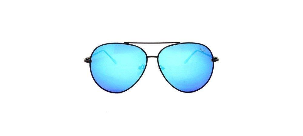6793f8b1d0f52 óculos aviador preto lente espelhado azul polarizado siracus. Carregando  zoom.