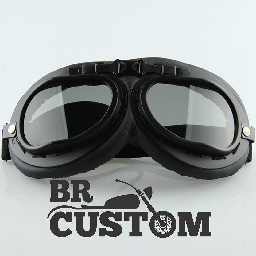 de2f01eebe2bf óculos aviador preto lente fume estilo vintage retro moto. Carregando zoom.