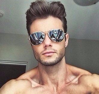 Óculos Aviador Preto Prata Azul Espelhado Masculino Promoção - R  39 ... 5a0d0cd11f