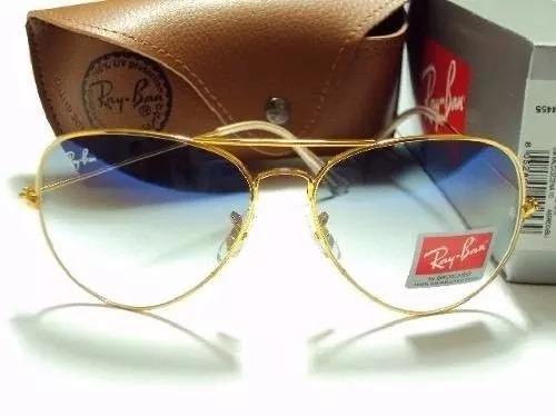 óculos aviador ray ban marrom degrade 3025 3026 rayban