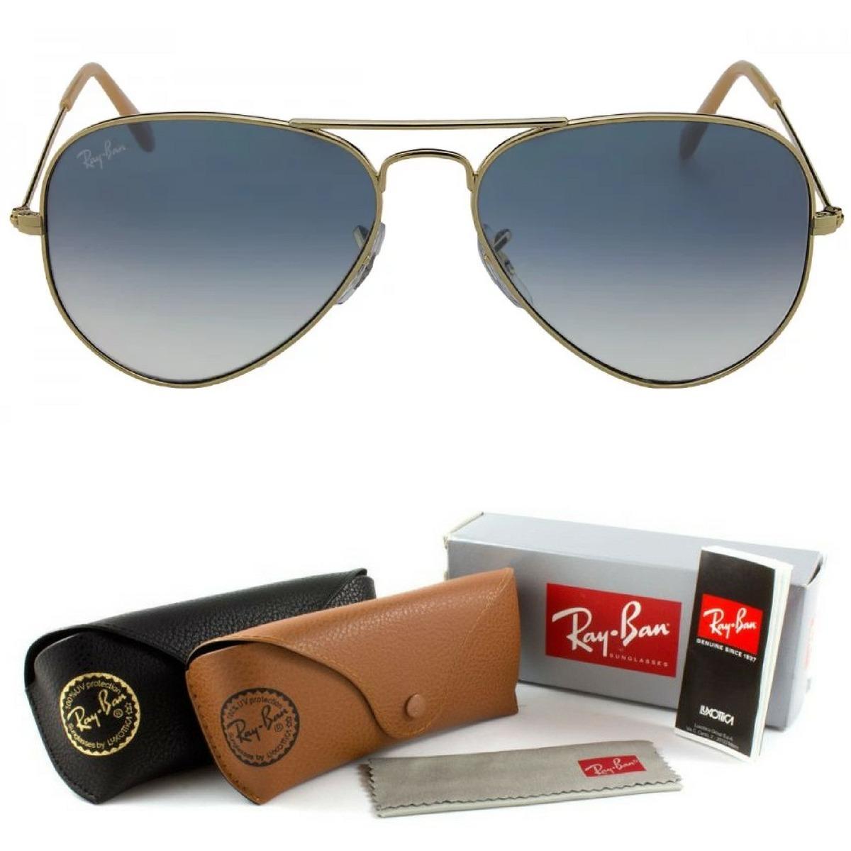 5976b3c722506 oculos aviador rb marrom azul degrade espelhado p m g. Carregando zoom.