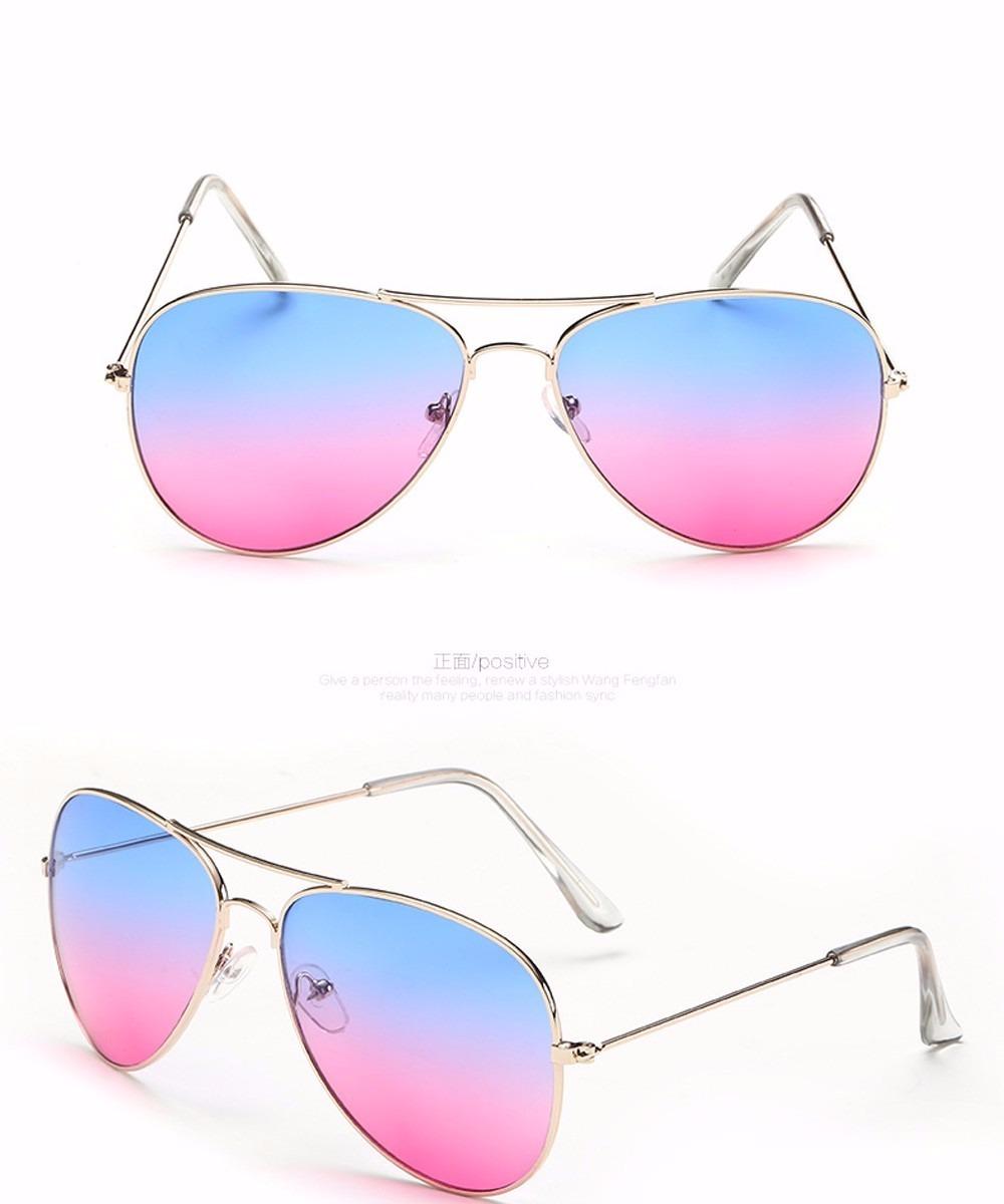 bc17372609b89 Óculos Aviador Retrô Classic Rosa C  Azul Unissex Top - R  18