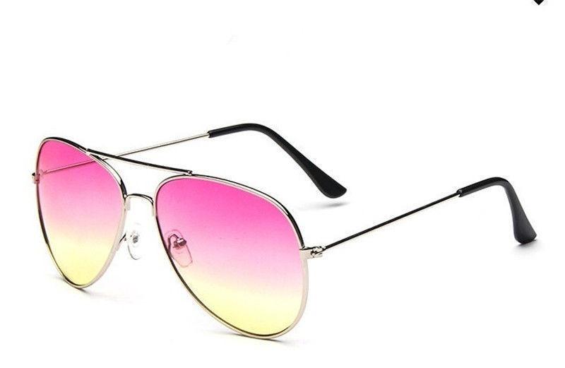 3ac4b923ebf98 óculos aviador retro classic degrade rosa e amarelo feminino. Carregando  zoom.