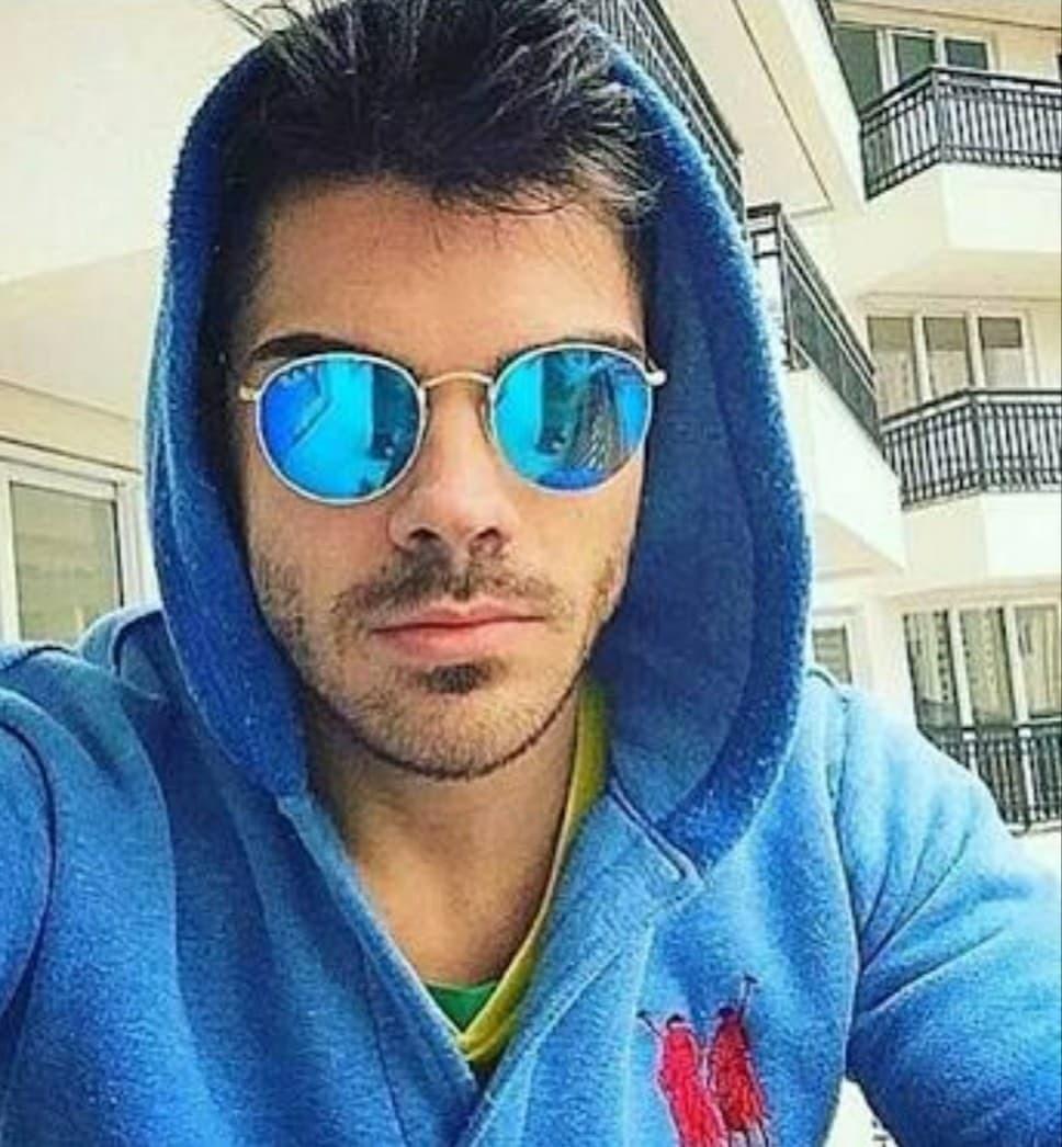 óculos azul espelhado prata masculino redondo estiloso moda. Carregando  zoom. 00070bf9cc