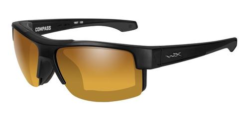 óculos balístico - wx compass lente gold polarizada wiley x