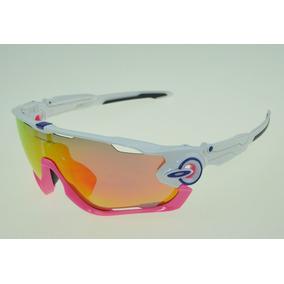0d27c1824c960 Oculos Ciclismo Oakley Jawbreaker Branco no Mercado Livre Brasil