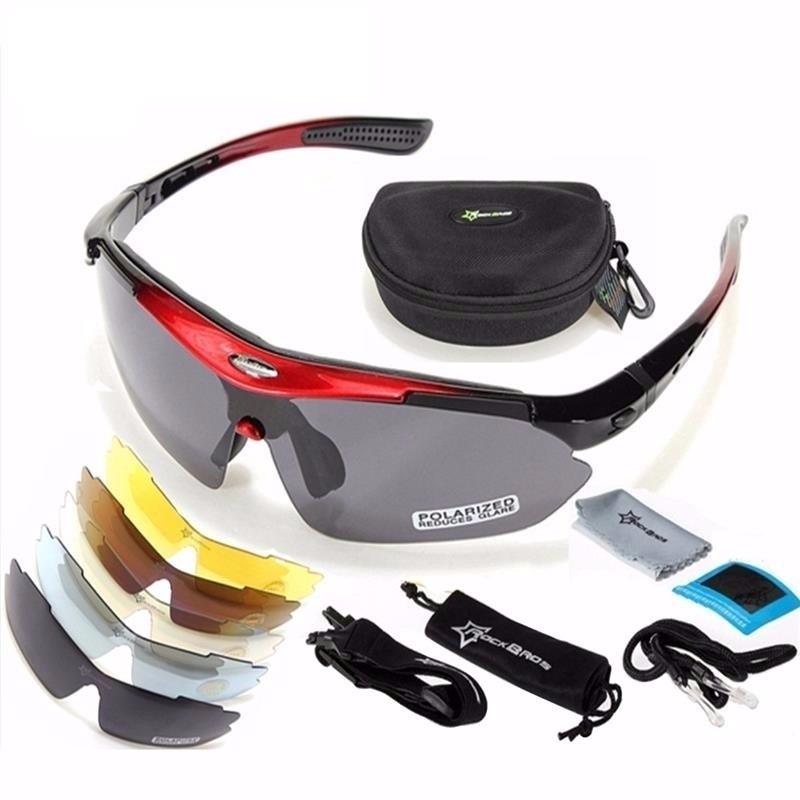 940f7847221ee óculos bike bicicleta ciclismo rockbros polarizado 5 lentes. Carregando  zoom.