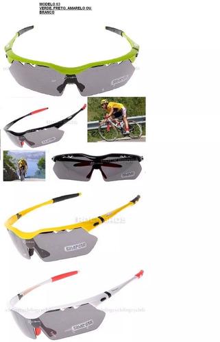 oculos bike ciclismo 5 lente polarizado rockbros fret grátis