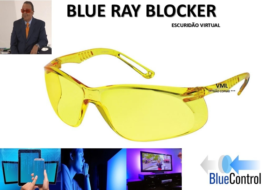b25be877713f2 Óculos Bloqueia Luz Azul Profissional Prospek - R  495,50 em Mercado Livre.  Carregando zoom.