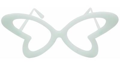 óculos borboleta que brilha no escuro - kit 10 unidades