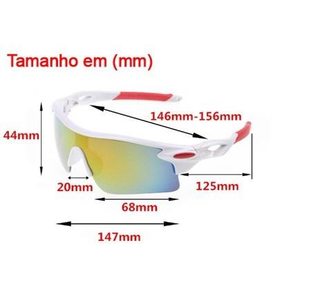 Óculos Branco Ciclismo Corrida Bike Mtb Unisex Uv400 - R  40,00 em ... 88ae4afe34