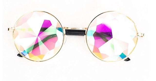 f33de9618f5d2 Óculos Caleidoscópio Lente Cristal Armação Metal Importado - R  179 ...