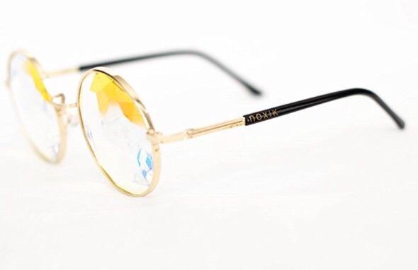 37aeb787ca395 Óculos Caleidoscópio Lente Cristal Armação Metal Importado - R  179 ...