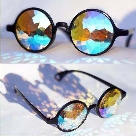 óculos calendoscópio psicodélico festa rave diamond