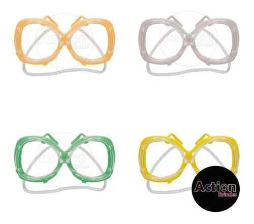óculos canudo divertido - kit 10 unidades