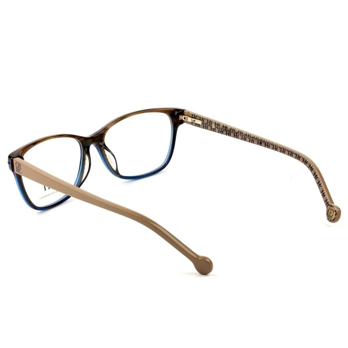 f724cb543bfe7 óculos carolina herrera vhe 635 0m61 53 - grau marrom. Carregando zoom.