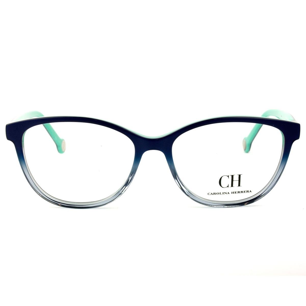f3997d8d03e8b óculos carolina herrera vhe 720 02a6 53 - grau azul. Carregando zoom.