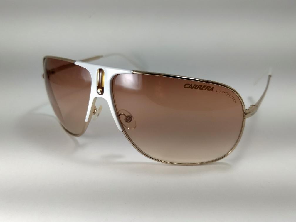 6e87bfa7a12e1 Óculos Carrera Back 80s-5 Branco - R  399,00 em Mercado Livre