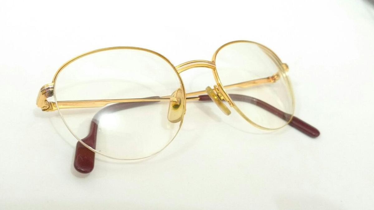 62bb65b01b4 Óculos Cartier Em Ouro 18k Em Promoção! - R  3.900