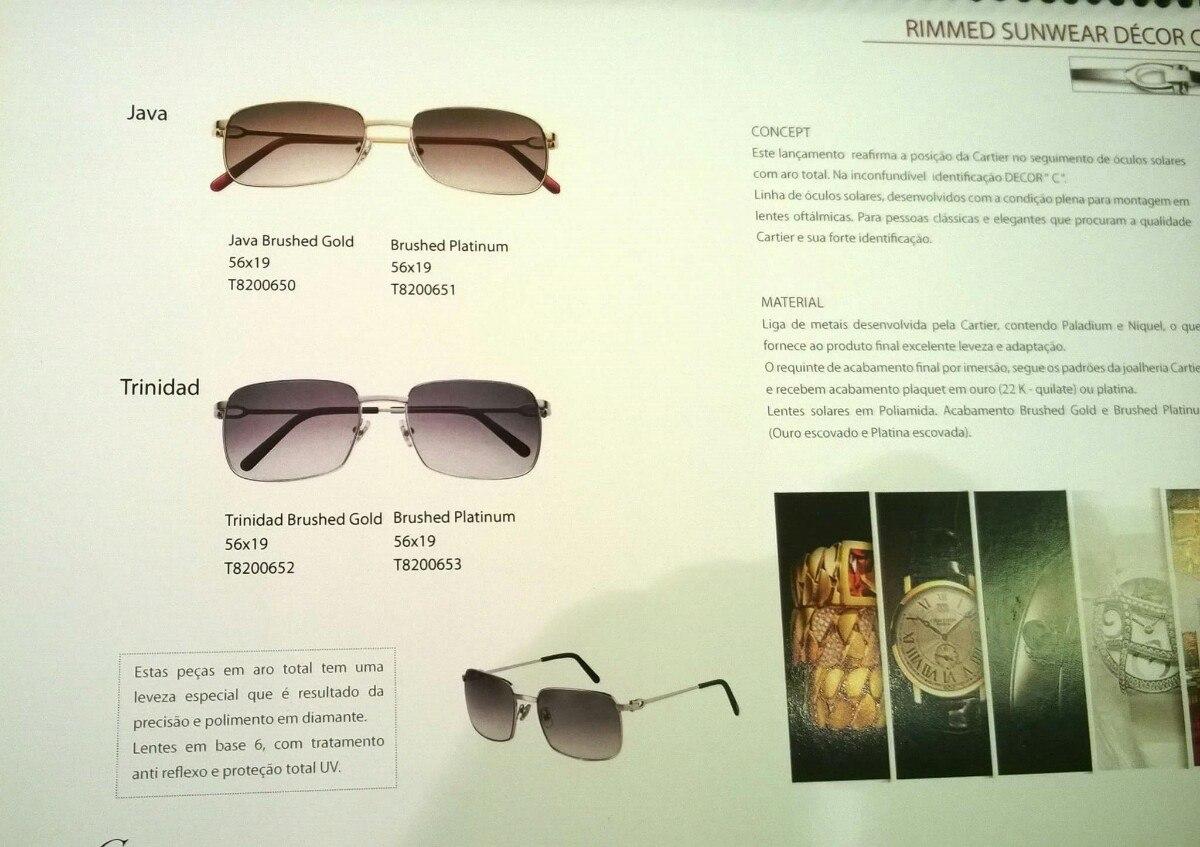 884584393f7 Óculos Cartier Feminino Original