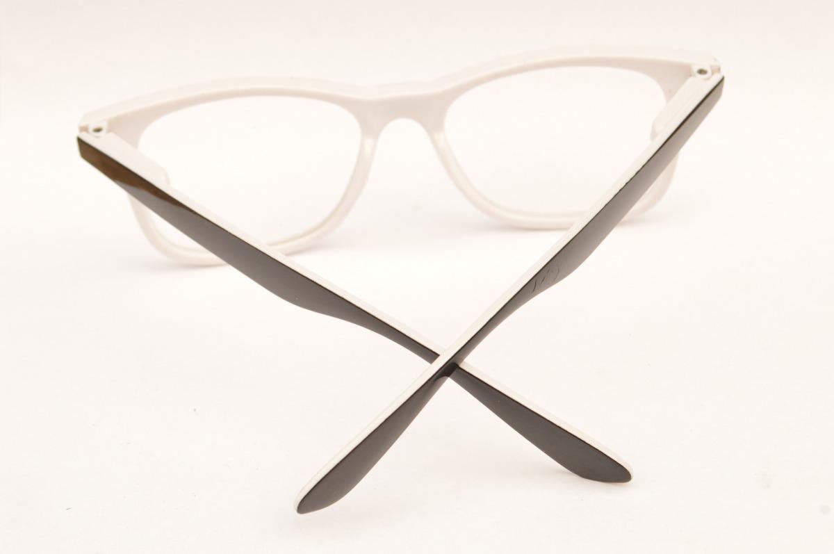 e4c55b81fbfc7 óculos casual preto e branco armação simples p grau f39. Carregando zoom.