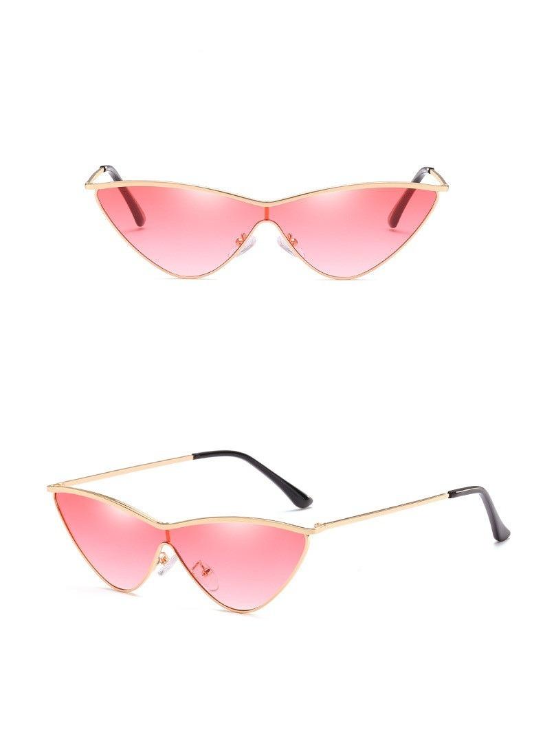 Oculos Cat Vintage Triangulo Fashion Lente Uv 400 Colorida - R  110 ... fcd719d04c