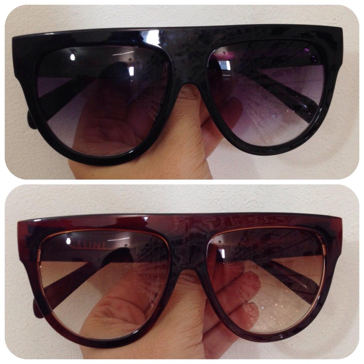 09cc676d4c057 óculos celine oversized shadow vintage quadrado degradê. Carregando zoom.
